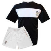 Maillot + Short Supporter - Juventus De Turin - Collection Officielle - Football Calcio Italie - Blason Club - Enfant Gar�on