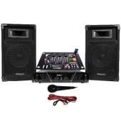 Pack Sono ampli + enceintes 500W + Table de mixage