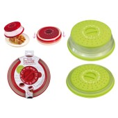 Cloche micro-ondes r�tractable Rouge
