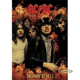 ACDC , AC/DC Higway to Hell Poster géant 3D 67 x 47 cms