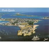Port Louis, Morbihan, La Citadelle, La Plage Et Le Port, Vue A�rienne