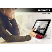 Newest Universal Tablet Mobile Rotary Stand With Dual USB Port 9000mAh Power Bank Batterie For Tablet Tablette Mobile phone iphone ipad samsung tablets windows surface kindle fire (silver)