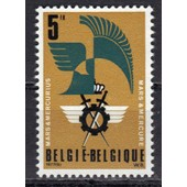 Belgique 1977 : 50� Anniversaire Du Cercle Royal Mars Et Mercure - Timbre 5 F. Ocre-Brun, Noir Et Vert-Bleu Neuf **