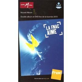 plv 14x25cm cartonnée rigide magasin fnac M - MATHIEU CHEDID nouvel album ILS 2013
