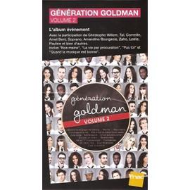 plv 14x25cm cartonnée rigide fnac GENERATION GOLDMAN 2 ( TAL / C.WILLEM / LESLIE / AMEL BENT / ETC )