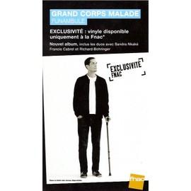 plv 14x25cm rigie cartonnée magasins fnac GRAND CORPS MALADE funambule 2013