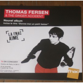 plv 30x30cm souple fnac THOMAS FERSEN & THE GINGER ACCIDENT nouvel album 2013