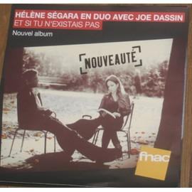 plv souple 30x30cm magasin fnac HELENE SEGARA en duo avec JOE DASSIN 2013
