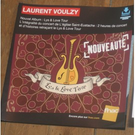 plv 30x30cm souple magasin fnac LAURENT VOULZY lys and love tour