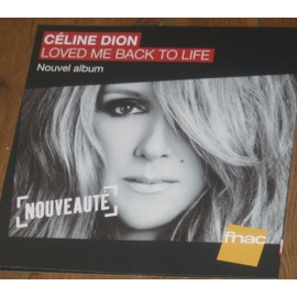 plv 30x30cm souple magasins fnac CELINE DION loved me back to life 2013