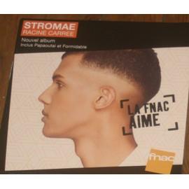plv 30x30cm souple magasin fnac  STROMAE racine carrée 2013