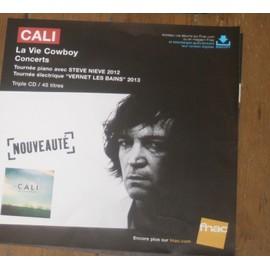 plv 30x30cm souple magasins fnac CALI la vie cowboy + concerts 2013