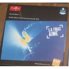 plv 30x30cm souple magasins fnac M - MATHIEU CHEDID nouvel album ILS 2013