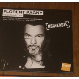 plv 30x30cm souple magasin fnac FLORENT PAGNY vieillir avec toi 2013