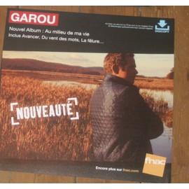 plv 30x30cm souple magasins fnac GAROU au milieu de ma vie 2013