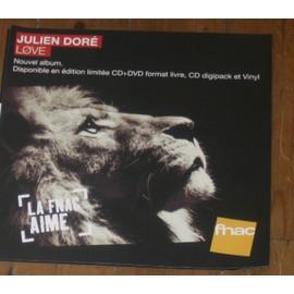plv 30x30cm souple magasins fnac JULIEN DORE love 2013
