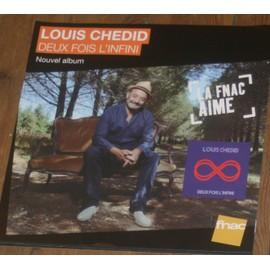 plv 30x30cm souple magasins fnac LOUIS CHEDID deux fois l'infini 2013