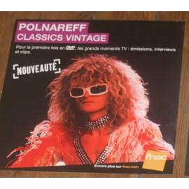 plv 30x30cm souple magasins fnac MICHEL POLNAREFF classics vintage 2013