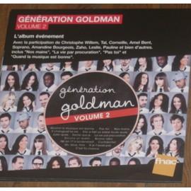 plv 30x30cm souple fnac GENERATION GOLDMAN 2 ( TAL, AMEL BENT, SOFIA ESSAIDI, ANGGUN, LESLIE,WILLEM