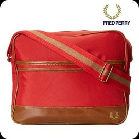 Sac � Bandouli�re Fred Perry Rouge Vintage Ref L4118 Nouveaut� Printemps 2014