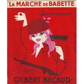 """LA MARCHE DE BABETTE (GILBERT BECAUD/ LOUIS AMADE) du film """"Babette s'en va-t'en guerre"""" 1959"""