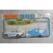 Matchbox Superfast Serie 900 Tp-5 Une Ford Escort Phantom Et Remorque Avec Bateau De Loisirs De 1978 ) Neuf Sous Blister