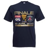 T-Shirt Lyon Ol Olympique Lyonnais / Paris Saint Germain Psg - Finale Coupe De La Ligue 2014 - Football - Tee Shirt Adulte Homme