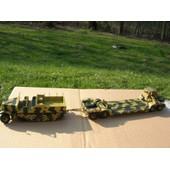 Ixo 1/72 Convoi Militaire Sdkf Famo + Remorque Porte Chars Sdah 116 1943
