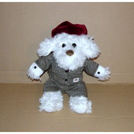 Peluche Doudou Chien Blanc En Costume Cravate Exclusivit� Marionnaud