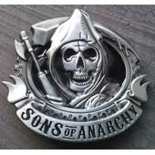 Boucle De Ceinture (Ceinturon) Sons Of Anarchy - Skull / Mort - Style Usa / Rock / Harley Davidson Biker West Coast Choppers