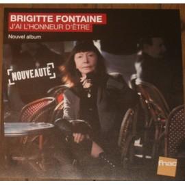 plv 30x30cm souple magasins fnac BRIGITTE FONTAINE j'ai l'honneur d'être 2013