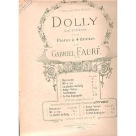 lot de 2 partitions Gabriel Fauré DOLLY, six pièces pour piano, BERCEUSE