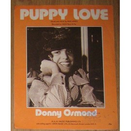 Partition Donny Osmond - Puppy love (feuillet)