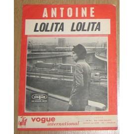 Partition - Antoine - Lolita lolita (feuillet d'époque)