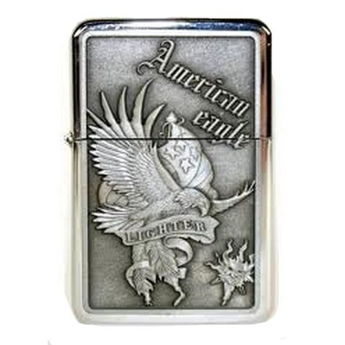 Briquet tempete essence <strong>american</strong> <strong>eagle</strong> metal grave aigle banniere drapeau tristar miltec 15223030 a usa americain
