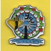 Pin's Pins Pin Braderie De Lille 92 Man�ge De F�te Foraine Grande Roue. Couleur 2, Coeur De La R�gion 59/62