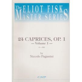 24 Caprices op.1 - caprices 1-12 Vol 1 - Guitare - Arrangeur : Fisk Eliot