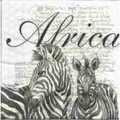 Lot De 2 Serviettes D�co Papier: Africa White
