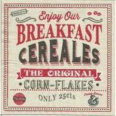 Lot De 2 Serviettes D�co Papier: Breakfast Cereales/New Coffee