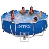 Piscine Tubulaire Ronde Metal Frame Intex �305x76