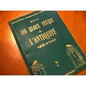 Les Beaux Textes De L'antiquit� Traduits En Fran�ais de maurice rat
