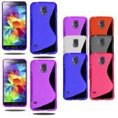 Pour Samsung Galaxy S5 Housse Coque S-Line Silicone + Stylet + Film