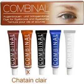 Teinture Combinal Pour Cils, Sourcils, Moustache Et Poils, Kit Chatain Clair