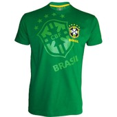 T-Shirt Du Br�sil - Collection Officielle Equipe Selecao Brasil - Football - Blason Maillot - Tee Shirt Taille Adulte