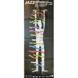 affiche ( format 60X160 cm pliée ) de Jazz à la Villette avec Bryan Ferry, Jamie Cullum, Kenny Garrett, Gregory Porter, Arthur H...