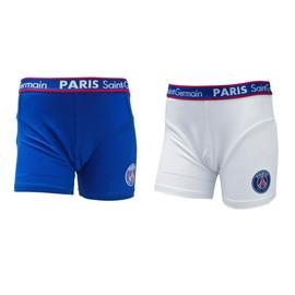 2 X Boxer Psg - Collection Officielle Paris Saint Germain - Blason Maillot Football Ligue 1 - Sous V�tement Taille Enfant Gar�on