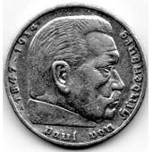 5 Reichsmark Hindenburg Argent 1935 A - Ttb+