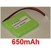 Batterie Pour Siemens Gigaset E40 E45 E450, E450 Eco, E450 Sim, E455, E455 Eco, E455 Sim Twin, P/N: S30852-D1751-X1, V30145-K1310-X382, **650mah**