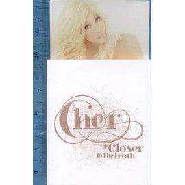 """Cher """"Méga Rare Mini carnet/Notepad aimanté pour frigidaire publicitaire album"""""""