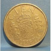 Pi�ce De Cien (100) Pesetas Juan Carlos Ier - Espagne - 1986 (Tranche B)